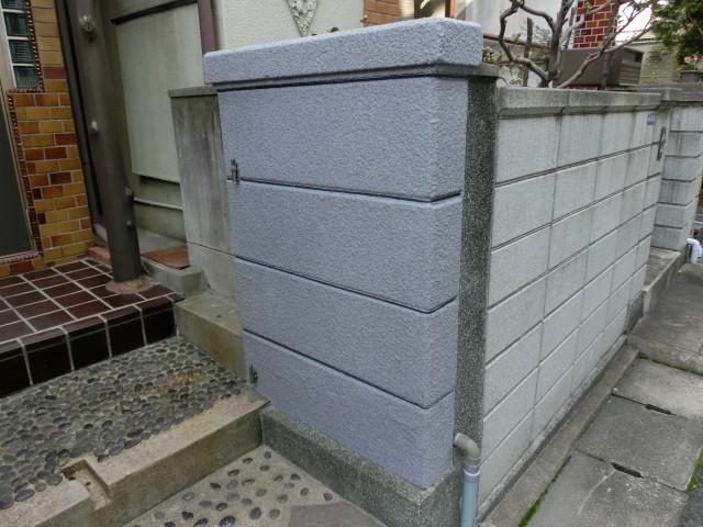 塀の塗装の完成