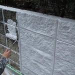 汚れた塀を塗装で、高級感のある天然石調にリフォーム 大阪府大東市 K様邸