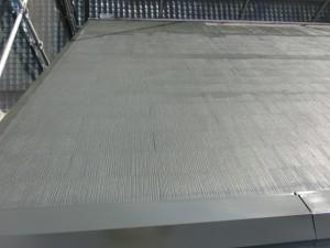 シリコン樹脂塗料を塗布した後のカラーベスト屋根