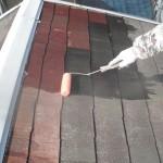カラーベストの色褪せで屋根塗装 東大阪市の木造戸建て
