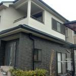 外壁サイディングをツートンカラーで塗装 奈良市の戸建て