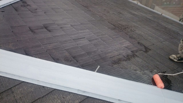 スレート屋根 塗装前